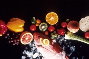 Fisch und Obst - Gesund bleiben