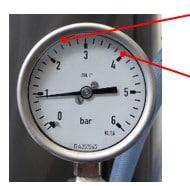 Wasserdruck - Monometer